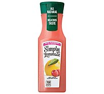 Simply Lemonade Juice All Natural With Raspberry - 11.5 Fl. Oz.
