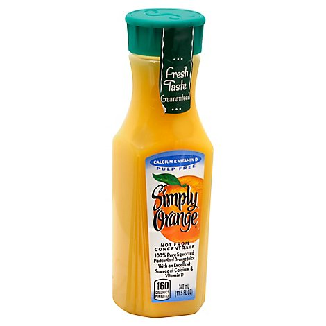 Simply Orange Juice Calcium & Vitamin D Pulp Free - 11.5 Fl. Oz.