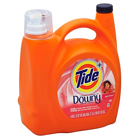 Tide Plus Laundry Detergent Liquid Downy April Fresh - 138 Fl. Oz.