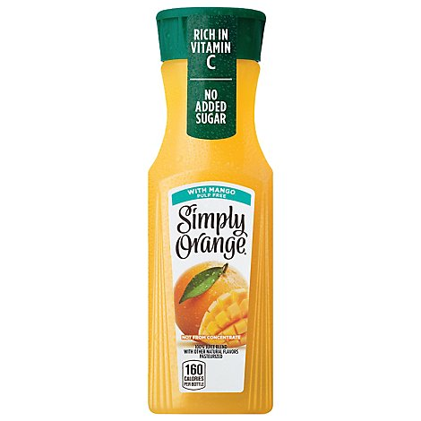 Simply Orange Pulp Free With Mango - 11.5 Fl. Oz.