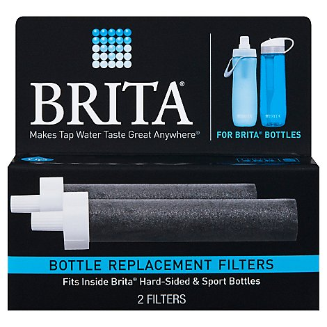 Brita Bottle Replacement Filters Hard Sided 2 Count - 2 Count