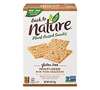 back to NATURE Crackers Rice Thin Gluten-Free Multi-Seed - 4 Oz