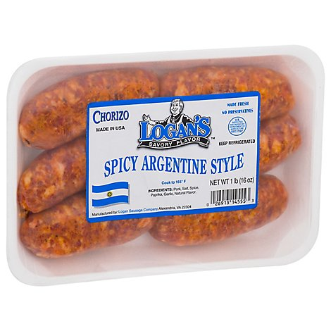 Logan Sausage Hot Argentine Fresh - Lb