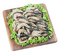 Seafood Counter Shrimp Raw 8-10ct Head On Service Case - 1.00 LB