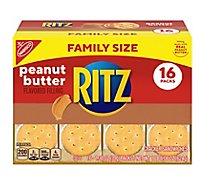 RITZ Crackers Sandwiches Peanut Butter Family Size Box - 16-1.38 Oz