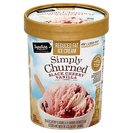 Signature SELECT Black Cherry Vanilla Light Ice Cream - 1.5 Quart