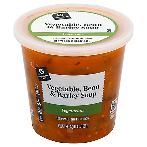 Signature Cafe Soup Vegetable Barley - 24 Oz