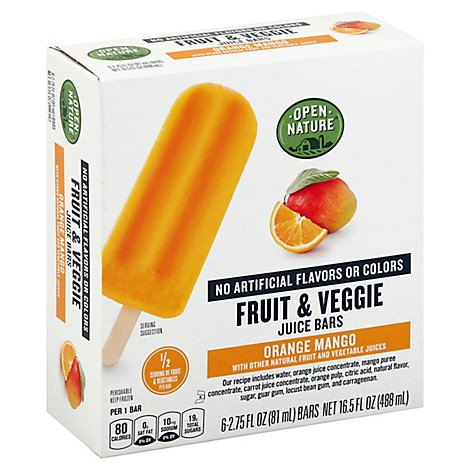 Open Nature Bars Fruit And Veggie Orange Mango - 6-2.75 Fl. Oz.