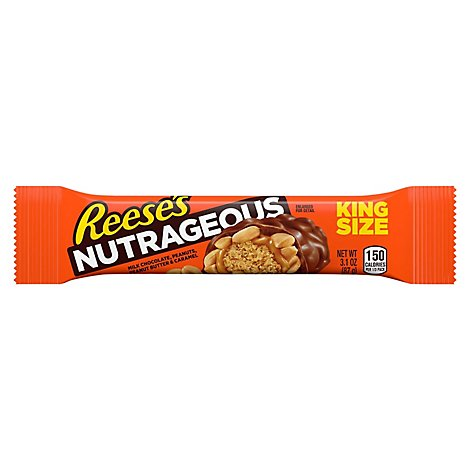Reeses Nutrageous Candy Bar King Size - 3.1 Oz