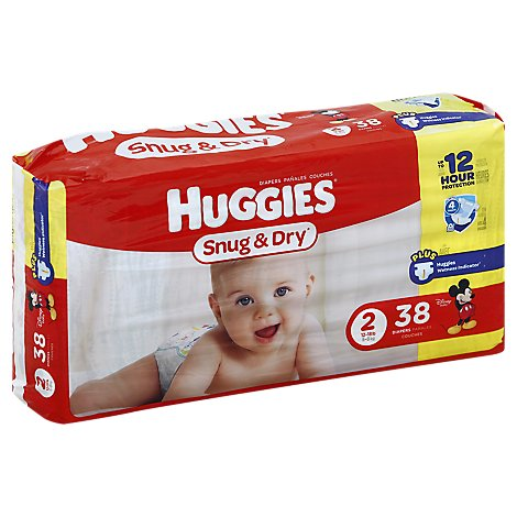 Huggies Snug & Dry Diapers Size 2 Jumbo Pack - 38 Count
