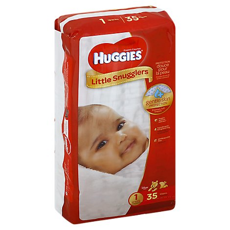 Huggies Little Snugglers Diapers Gentle Skin Protection Size 1 - 35 Count