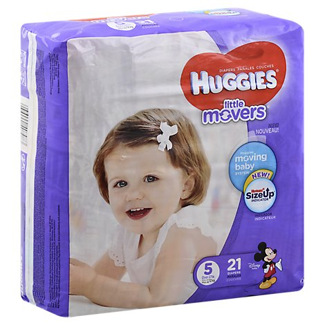 Huggies Little Movers Diapers Size 5 Jumbo Pack - 21 Count