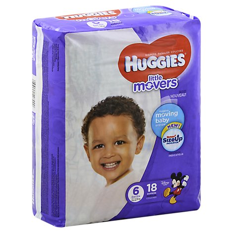 Huggies Little Movers Diapers Size 6 Jumbo Pack - 18 Count