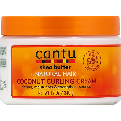 Cantu Shea Butter Cream Coconut Curling for Natural Hair - 12 Oz