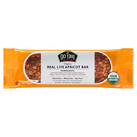 Go Raw Real Live Apricot Bar - .423 Oz