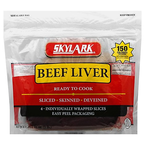 Skylark Beef Liver Slices Frozen - 16 Oz