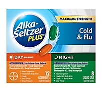 Alka-Seltzer Plus Liquid Gels Multi-Symptom Cold & Flu Formula Day/Night - 20 Count