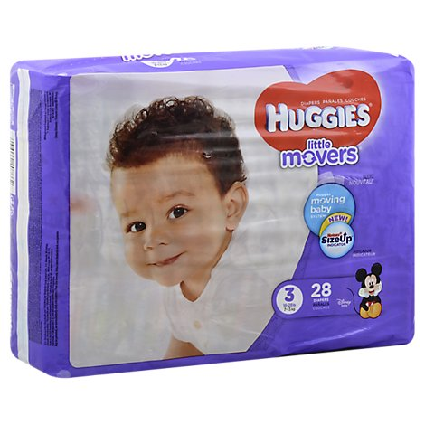 Huggies Little Movers Diapers Size 3 - 28 Count