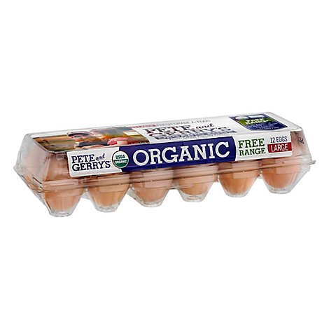 Pete & Gerrys Organic Eggs Free Range Large - 12 Count