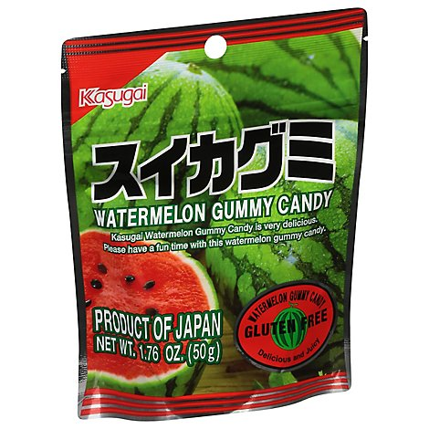 Kasugai Watermelon Gummy Pouch - 1.76 Oz