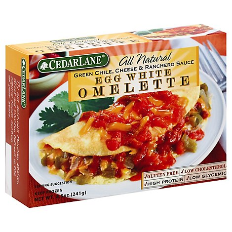Cedarlane All Natural Omelette Egg White Green Chile Cheese & Ranch Sauce - 8.5 Oz