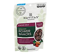 Navitas Naturals Cacao Goji Superfood Power Snack - 8 Oz