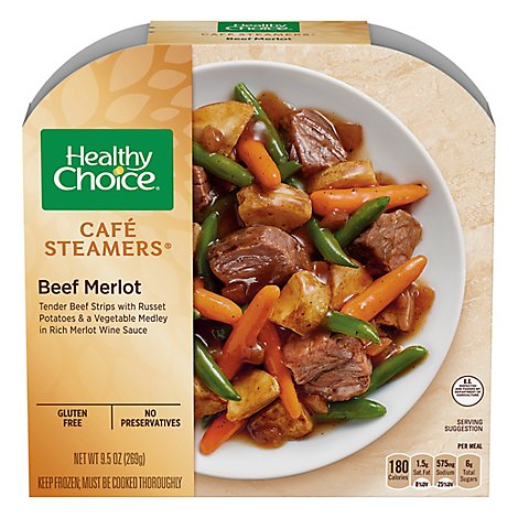 Healthy Choice Cafe Steamers Meals Low-Fat Beef Merlot - 9.5 Oz