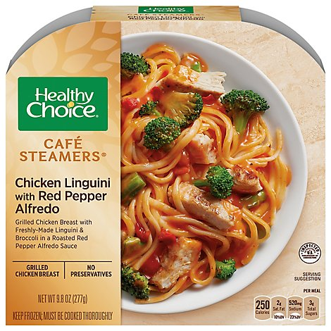 Healthy Choice Cafe Steamers Chicken Linguini with Red Pepper Alfredo - 9.8 Oz