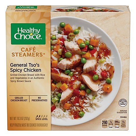 Healthy Choice Cafe Steamers Chicken General Tsos Spicy - 10.3 Oz
