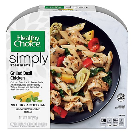 Healthy Choice Cafe Steamers Chicken Grilled Basil- 9.9 Oz