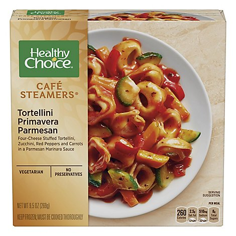 Healthy Choice Cafe Steamers Tortellini Primavera Parmesan - 9.5 Oz