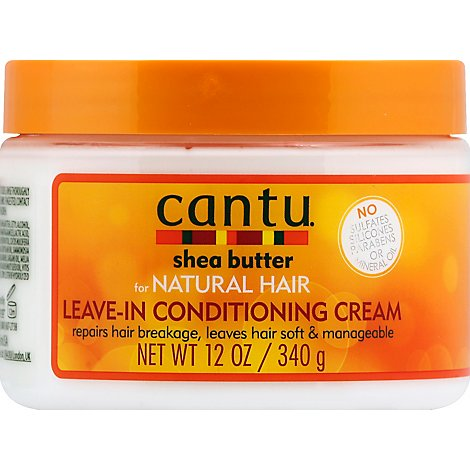 Cantu Shea Butter Cream Leave-In Conditioning For Natural Hair - 12 Oz
