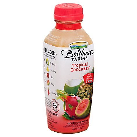 Bolthouse Farms 100% Fruit Juice Smoothie Tropical Goodness - 15.2 Fl. Oz.