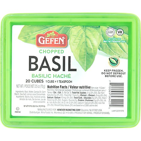 Gefen Chopped Basil Cubes - 2.5 Oz
