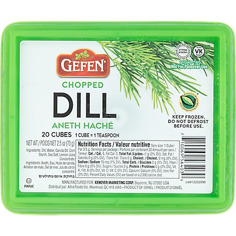 Gefen Chopped Dill Cubes - 2.5 Oz