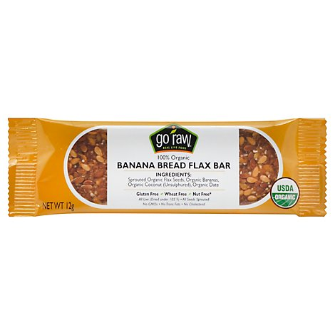 Go Raw Banana Bread Flax Bar - .42 Oz