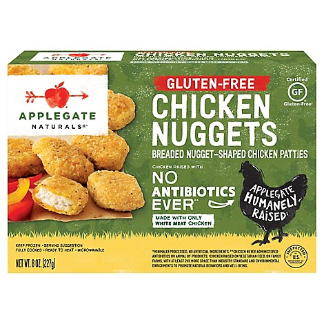 Applegate Natural Gluten-Free Chicken Nuggets Frozen - 8oz
