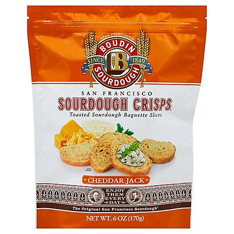 Boudin Garlic & Asiago Sourdough Crisps - 6 Oz