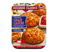Dockside Classics Crab Cakes Premium 4 Count - 12 Oz