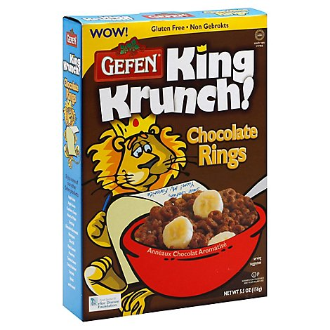 Gefen King Krunch Chocolate Rings - 5.5 Oz