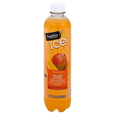 Signature SELECT Water Sparkling Ice Orange Mango - 17 Fl. Oz.