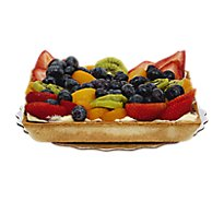 Bakery Tart Fruit Fresh Square 7 Inch - Each