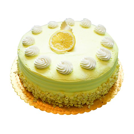 Bakery Cake 10 Inch Lemon Creme - Each
