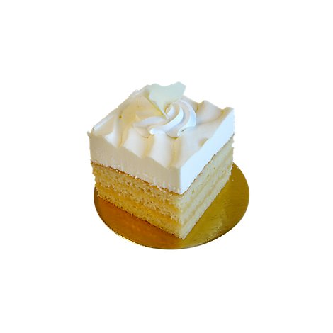 Bakery Cake Square Vanilla - Each
