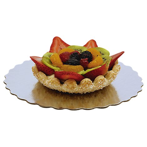 Bakery Tart Fruit Fresh Flower 6 Inch - Each