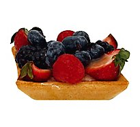 Bakery Tart Fresh Fruit Tart Square 3 Inch - Each (210 Cal)