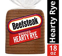 Beefsteak Bread Hearty Rye Seeded - 18 Oz