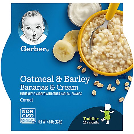 Gerber Graduates Breakfast Buddies Bananas & Cream - 4.5 Oz