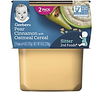 Gerber 2nd Foods Baby Food Pears & Cinnamon With Oatmeal - 2-4 Oz