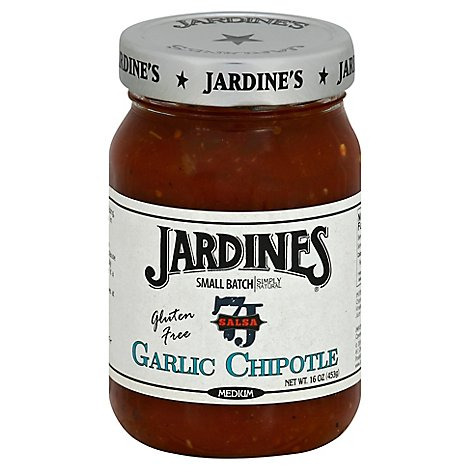 Jardines Salsa Garlic Chipotle Medium Jar - 16 Oz